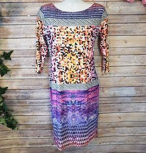 🆕️Analili Abract Multicolored 3/4 Sleeve Dress🆕️